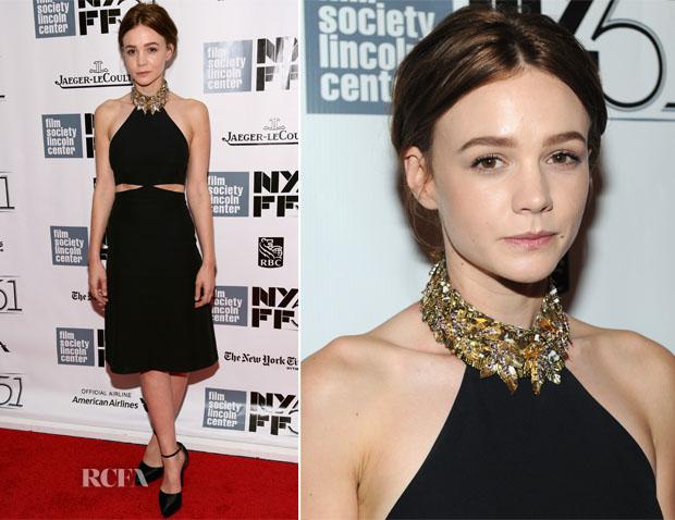 Carey Mulligan In Alexander McQueen - 'Inside Llewyn Davis' New York Film Festival Premiere