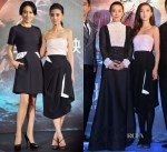 Carina Lau In Valentino & Angelababy In Christian Dior - 'Young Detective Dee: Rise of the Sea' Press Conference & Premiere