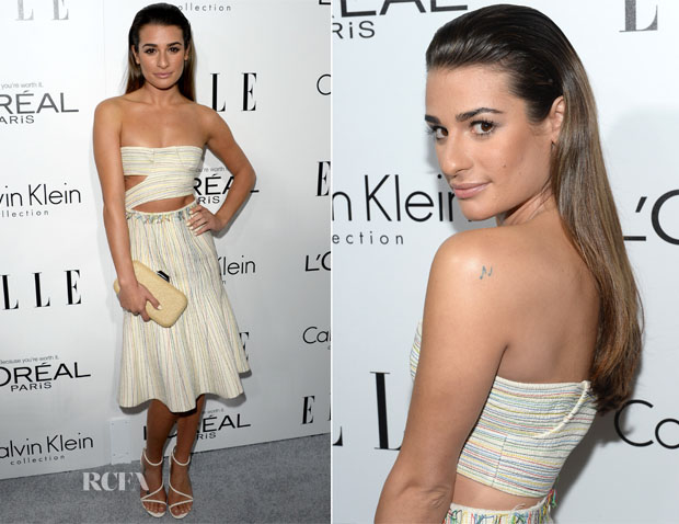 Lea Michele In Calvin Klein - ELLE's 20th Annual Women In Hollywood Celebration