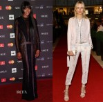 Naomi Campbell and Karolina Kurkova In Roberto Cavalli - Vogue Fashion Dubai Experience