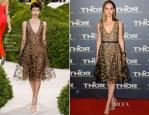 Natalie Portman In Christian Dior Couture - 'Thor: The Dark World' Paris Premiere