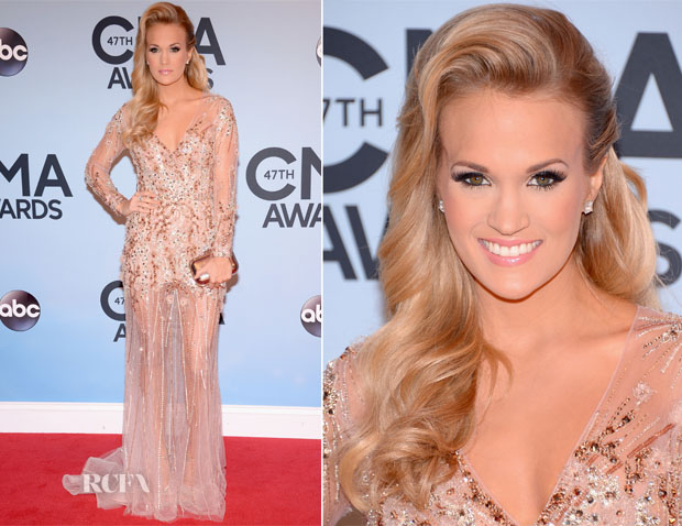 Carrie Underwood In Ralph & Russo Couture - 2013 CMA Awards