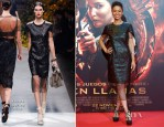 Meta Golding In Loewe - 'The Hunger Games: Catching Fire' Madrid Premiere