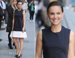 Natalie Portman In Christian Dior - Late Show with David Letterman