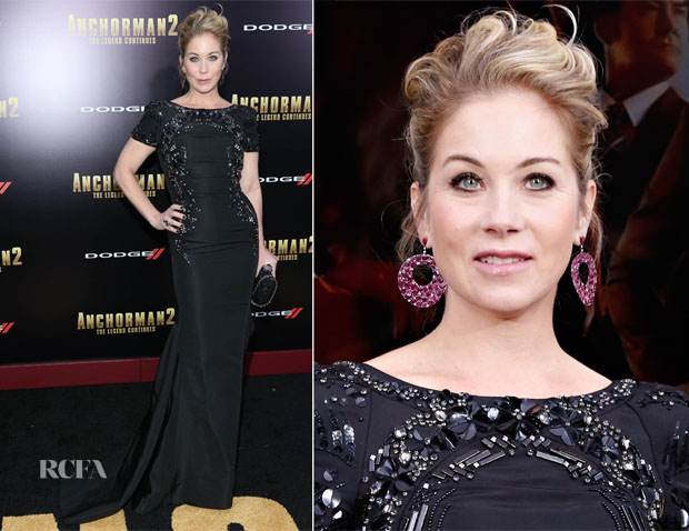 Christina Applegate In Lorena Sarbu - 'Anchorman 2 The Legend Continues' New York Premiere