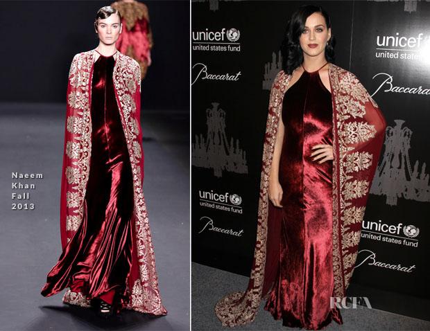 Katy Perry In Naeem Khan - 9th Annual UNICEF Snowflake Ball