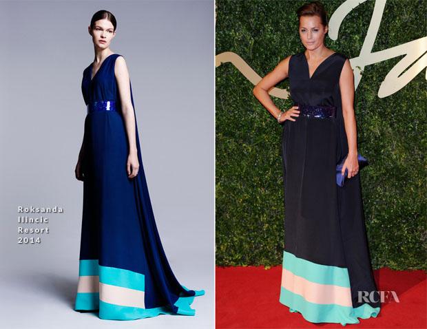 Yasmin Le Bon In Roksanda Ilincic - British Fashion Awards 2013