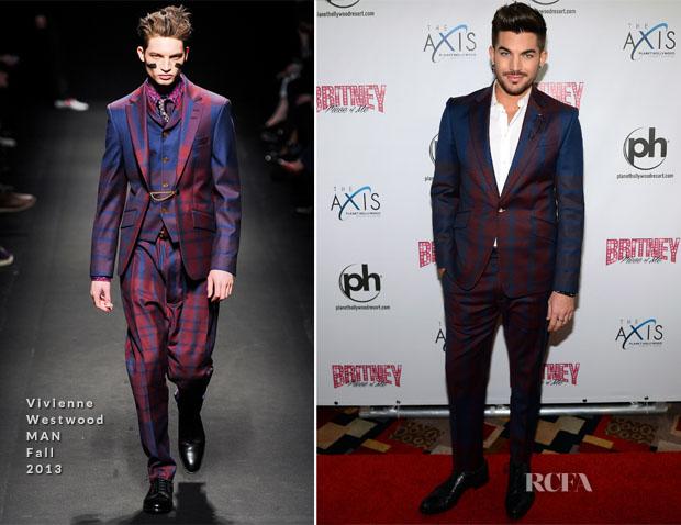 Adam Lambert In Vivienne Westwood MAN - 'Britney Piece of Me' Opening Night