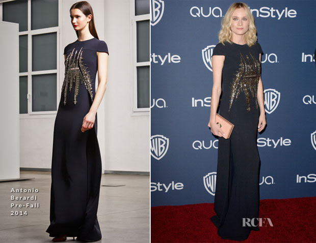 Diane Kruger In Antonio Berardi - InStyle and Warner Brothers Golden Globes Awards Party