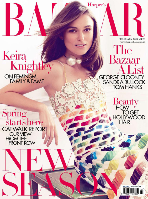 Keira Knightley For Harper's Bazaar UK February 2014