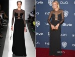 Malin Akerman In Ralph Rucci - InStyle and Warner Brothers Golden Globes Awards Party