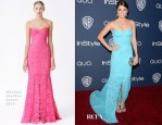 Nikki Reed in Monique Lhuillier - InStyle and Warner Brothers Golden Globes Awards Party