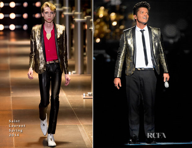 Bruno Mars In Saint Laurent - Pepsi Super Bowl XLVIII Halftime Show