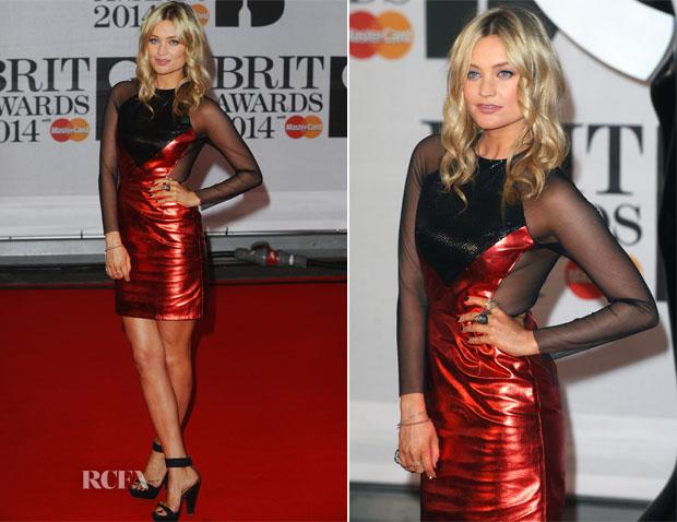 Laura Whitmore In Hasan Hejazi - Brit Awards 2014