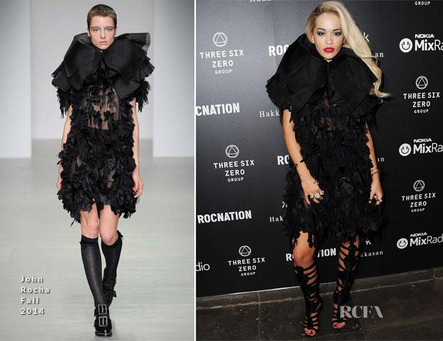 Rita Ora In John Rocha - Brit Awards 2014 After-Parties