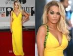Rita Ora In Prada - Brit Awards 2014