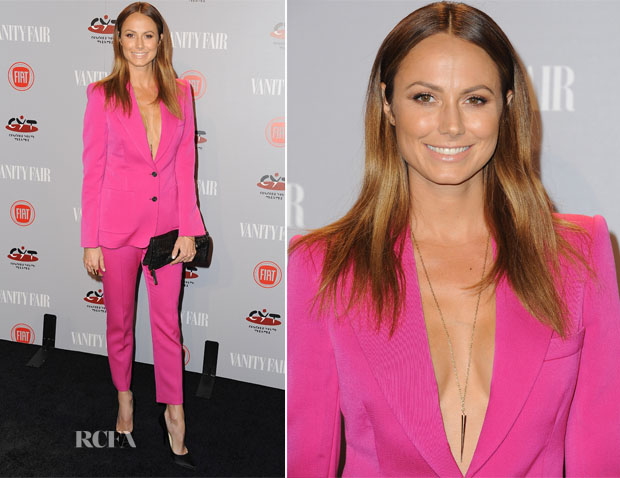 Stacy Keibler In Joseph - Vanity Fair and FIAT Celebration Of 'Young Hollywood'