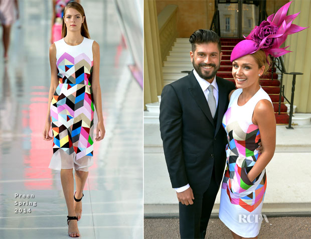 Katherine Jenkins In Preen - Investitures Ceremony at Buckingham Palace