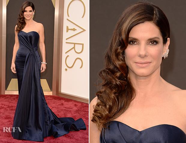 Sandra Bullock In Alexander McQueen - Oscars 2014