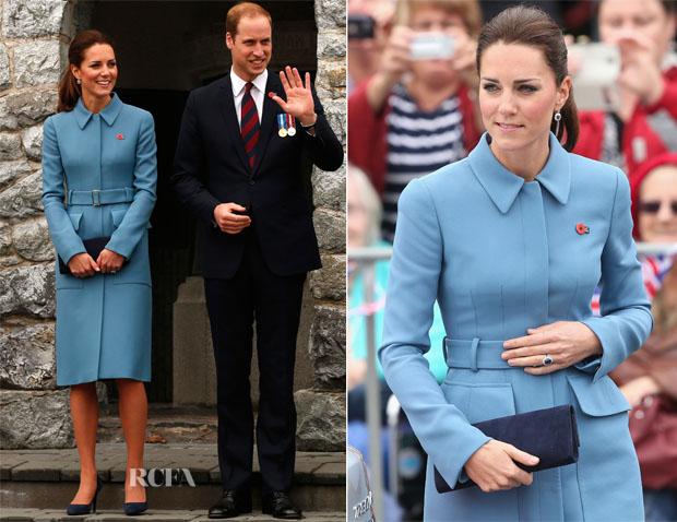 Catherine, Duchess of Cambridge In Alexander McQueen - Blenheim War Memorial