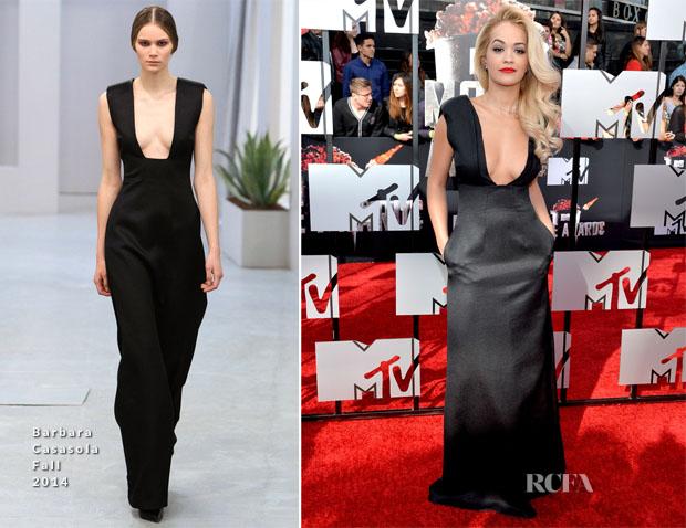 Rita Ora In Barbara Casasola - MTV Movie Awards 2014