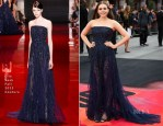 Elizabeth Olsen In Elie Saab Couture - 'Godzilla' London Premiere