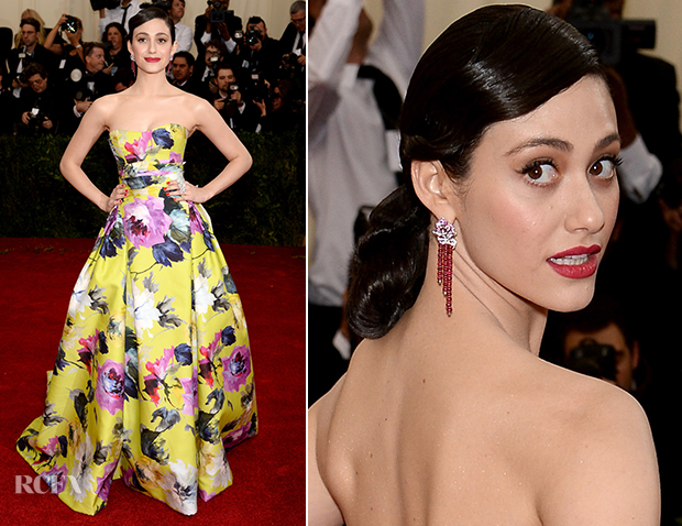 Emmy Rossum In Carolina Herrera - 2014 Met Gala
