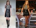 Jennifer Lopez In Gucci - 'American Idol' Season 13 Top 2 Live Performance Show