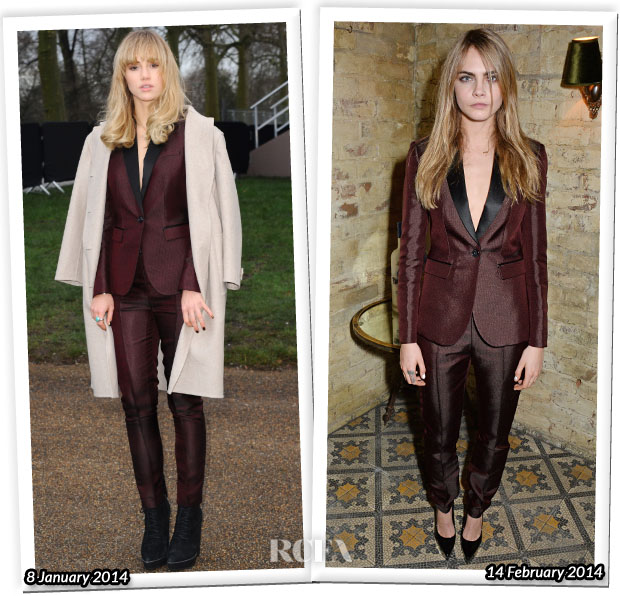Who Wore Burberry Prorsum Better Suki Waterhouse or Cara Delevinge