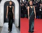 Zoe Saldana In Jason Wu - 'Mr Turner' Cannes Film Festival Premiere