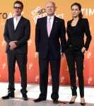 Angelina Jolie In Saint Laurent and Brad Pitt Salvatore Ferragamo - Global Summit To End Sexual Violence In Conflict – Day 2