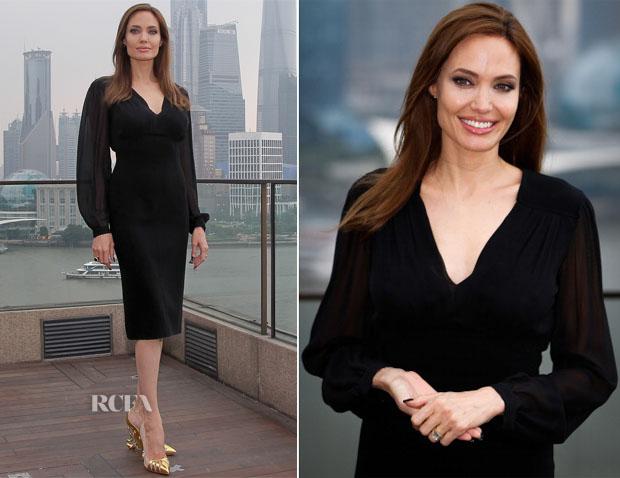 Angelina Jolie In Michael Kors - 'Maleficent' Shanghai Photocall