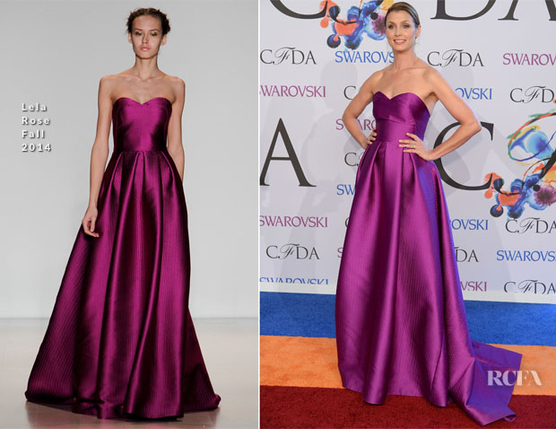 Bridget Moynahan In Lela Rose - 2014 CFDA Fashion Awards