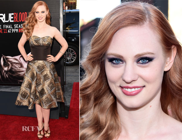 Deborah Ann Woll In Carolina Herrera - 'True Blood' Season 7 Premiere
