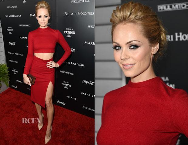 Laura Vandervoort In Alice + Olivia - Maxim's Hot 100 Women of 2014 Celebration