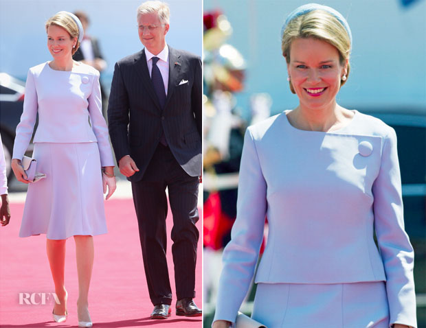 Queen Mathilde of Belgium In Christian Dior - 70th Anniversary of D-Day Ceremony