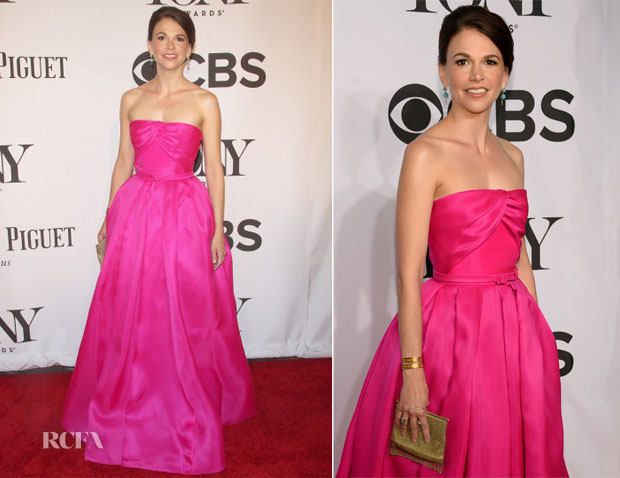 Sutton Foster In Reem Acra - 2014 Tony Awards