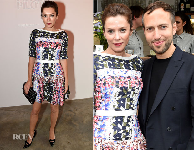 Anna Friel In Peter Pilotto - Peter Pilotto Dinner Hosted by MAC