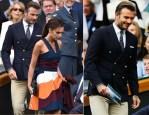 David Beckham In Ralph Lauren & Victoria Beckham In Victoria Beckham - Wimbledon Men's Singles Final