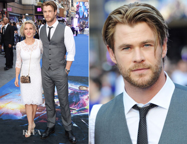 Elsa Pataky In Dolce & Gabbana and Chis Hemsworth - 'Guardians Of The Galaxy' London Premiere