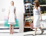 Jessica Chastain In Nonoo - Out In Ischia