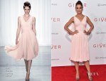 Katie Holmes In Zac Posen - 'The Giver' New York Premiere