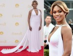 Laverne Cox In Marc Bouwer - 2014 Emmy Awards