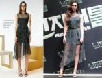 Megan Fox In Jonathan Saunders - 'Teenage Mutant Ninja Turtles' Seoul Press Conference