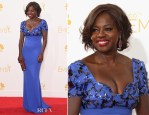Viola Davis In Escada - 2014 Emmy Awards