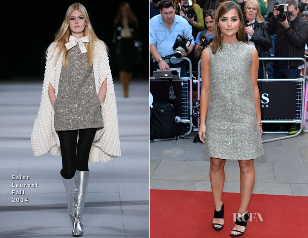 Jenna Coleman In Saint Laurent - 2014  GQ Men of the Year Awards