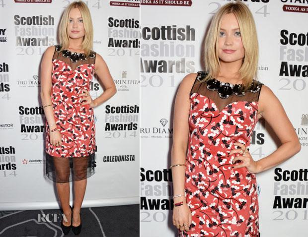 Laura Whitmore In Holly Fulton - 2014 Scottish Fashion Awards