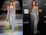 Ashley Madekwe In Giorgio Armani - 2014 amfAR LA Inspiration Gala