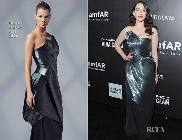 Kat Dennings In Rubin Singer - 2014 amfAR LA Inspiration Gala