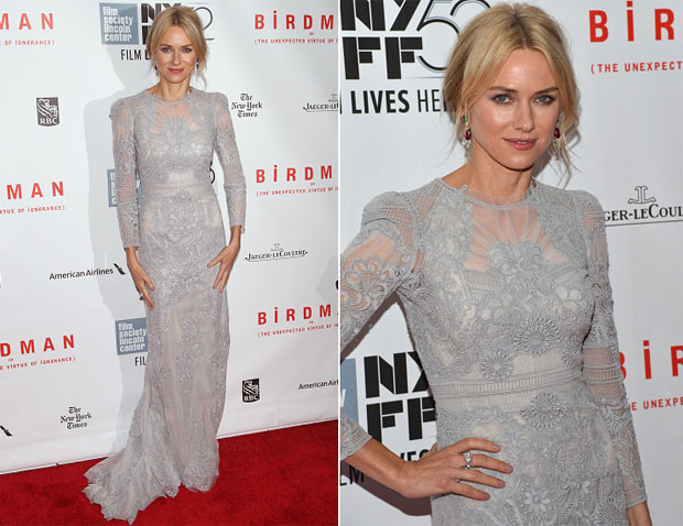 Naomi Watts In Gucci Première - 'Birdman Or The Unexpected Virtue Of Ignorance' New York Film Festival Closing Night Gala Presentation